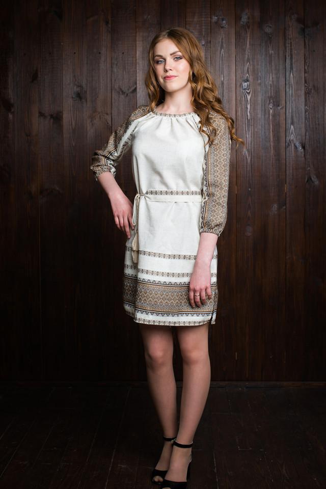 """Модное вышитое детское платье """"Кристина"""""""