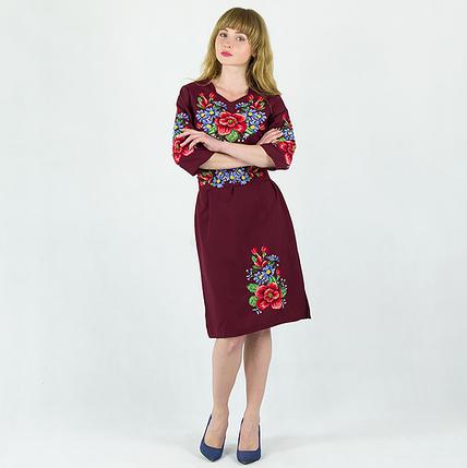 """Платье женское """"Анжелика"""" бордовое, фото 2"""