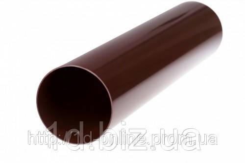 Труба водосточной системы Бриза (Bryza) 90 мм коричневый