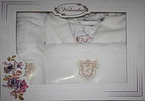 Женский бамбуковый халат с полотенцами Volenka: халат + 2 полотенца, фото 2