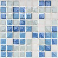 Голубая стеклянная мозаика микс D-Core DC-13