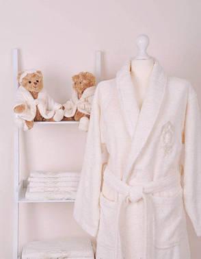 Жіночий бамбуковий халат з рушниками Volenka: халат + 2 рушники, фото 2