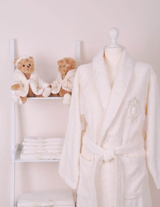 Жіночий бамбуковий халат з рушниками Volenka: халат + 2 рушники