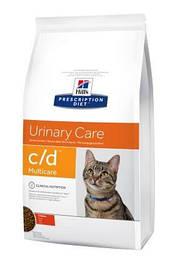 Hills PD FELINE C/D Лечебный корм для кошек профилактика струвитов курица, 1,5 кг