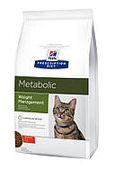 Hills PD Feline Metabolic Лечебный корм для кошек Ожирение,лишний вес, 4 кг