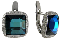 "Серьги ""Алудра"" с кристаллами Swarovski покрытые родием (b833f140)"