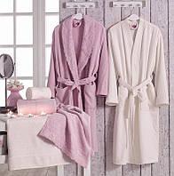 Семейный махровый комплект халатов Volenka: 2 халата + 4 полотенца
