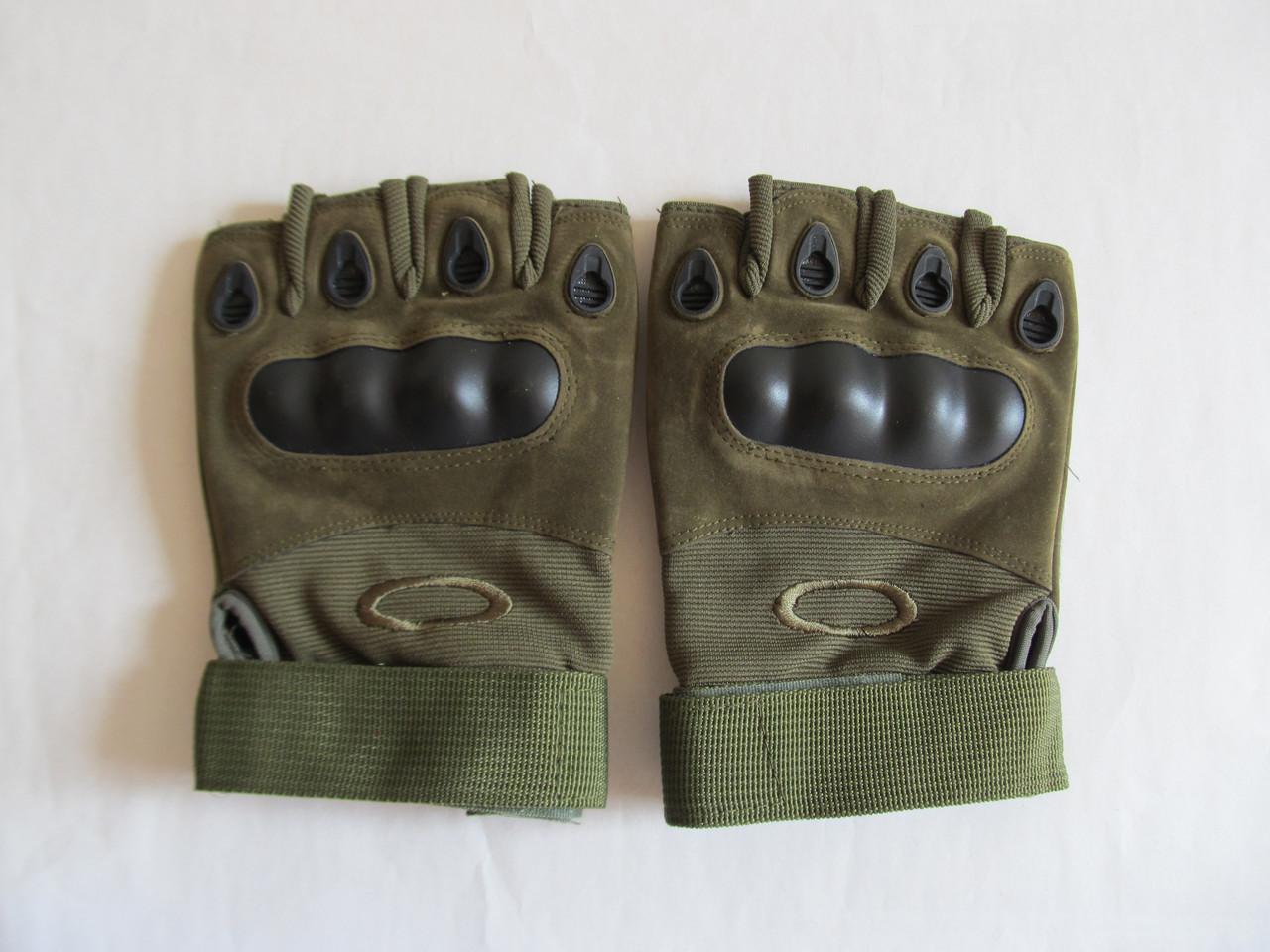 """Тактические перчатки беспалые на липучке """"Oakley"""""""