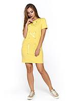 Молодежное короткое платье Виа желтое