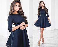Платье женское синие с сетки неопрена ТК/-2013