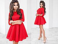 Платье женское красное с сетки неопрена ТК/-2013