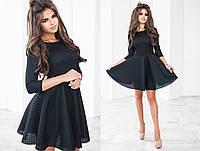Платье женское чёрное с сетки неопрена ТК/-2013
