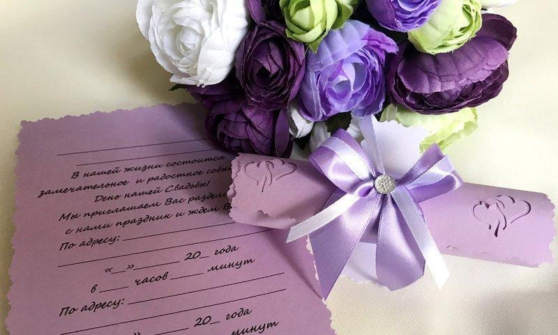 Свадебные пригласительные в свитках Бант