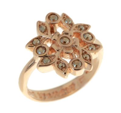 """Кольцо """"Эскарен"""" с кристаллами Swarovski, покрытое золотом (j549p020)"""