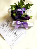 Свадебные пригласительные в свитках Кружево