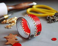 """Кожаный браслет """"Ранняя осень"""" ручная работа - Игла Фортуны"""