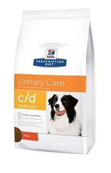 Сухой лечебный корм Hills PD Canine C/D для собак при струвитном уролитиазе, 2 кг