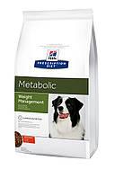 Hill's PD Canine Metabolic Лечебный корм для собак Ожирение,лишний вес, 12 кг