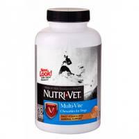 Комплекс витаминов и минералов для собак Нутри-Вет (Nutri-Vet) МУЛЬТИ-ВИТ,  жевательные таблетки, 120табл