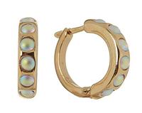 """Серьги """"Тьер"""" с кристаллами Swarovski, покрытые золотом (j718p170)"""