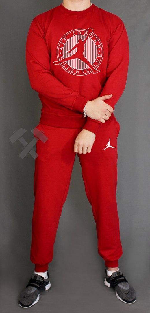 Спортивный костюм Джордан мужской, брендовый костюм Jordan трикотажный (на флисе и без) копия