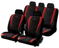 Чехлы CRUISE полный комплект на салон / цвет: черно-красный