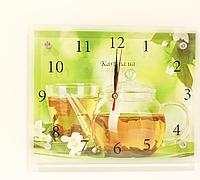 Часы настенные картина 20Х25 с чаем