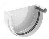 Заглушка желоба левая водосточной системы Бриза (Bryza) 125 мм белый
