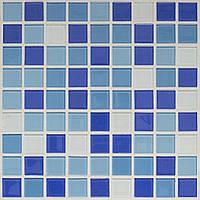 Голубая стеклянная мозаика для ванной и бассейна D-Core DC-17 Украина
