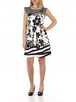 Летнее черно-белое  платье FRACOMINA Италия