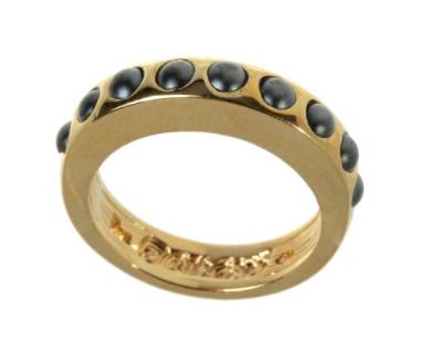 """Кольцо """"Тьер"""" с кристаллами Swarovski, покрытое золотом (j718p060)"""