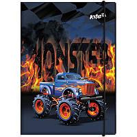 Папка для труда «Monster Truck», картонная на резинке, ТМ Kite