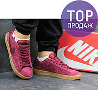 Женские кроссовки NIKE SB, красные / кроссовки женские НАЙК СБ, замшевые, модные