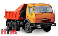 Гідравліка  Hyva на КамАЗ 55111 з пластиковим баком
