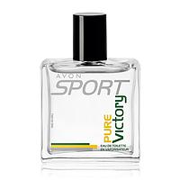 Туалетная вода Avon Sport Pure Victory для Него, 50 мл/ Фужерный аромат (ледяной мандарин, элеми, кедр)