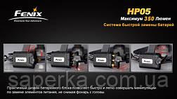 Купить Налобный Фонарь Fenix HP05 XP-G (R5), желтый, фото 3