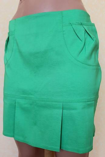 Юбка женская в складку 42-48 р ( зеленый, желтый )