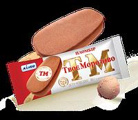 Пломбир шоколадный на палочке без глазури, 80 г