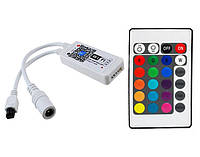 Контроллер (12А) WI-FI с пультом (инфракрасный, 24кнопки) RGBW, фото 1