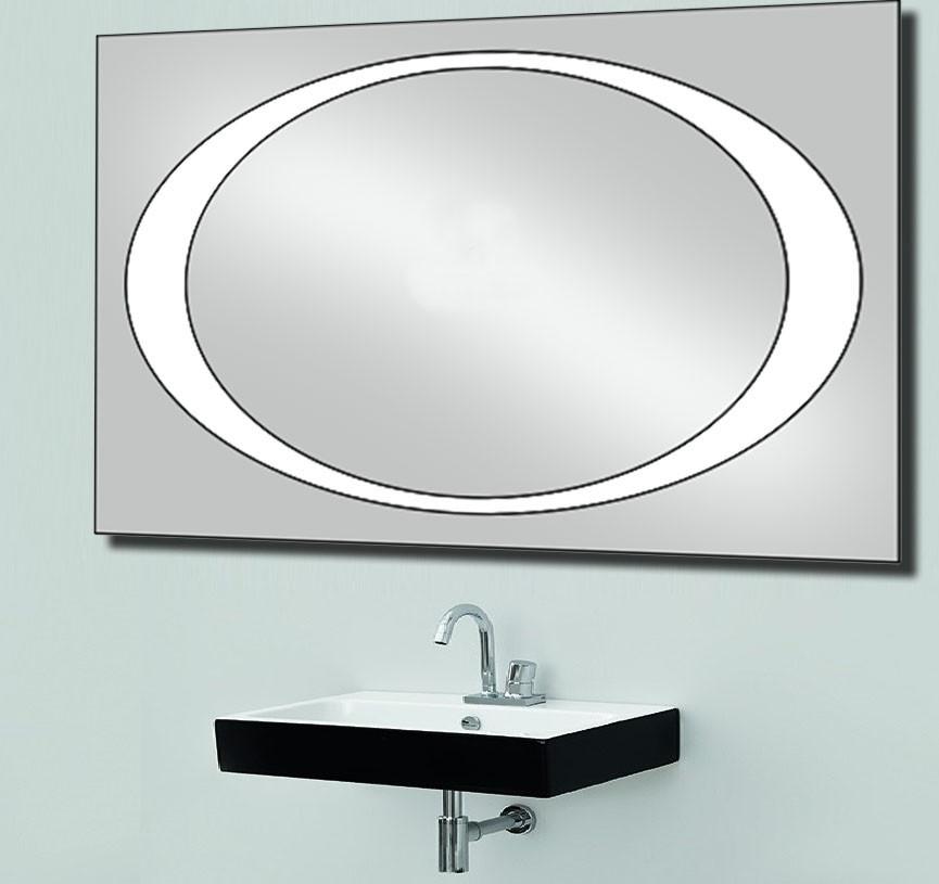 Зеркало с LED подсветкой настенное d-58 1200х800 мм