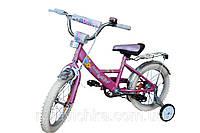 Велосипед Марс для детей, 16 дюймов, ручной тормоз, эксцентрик, розовый/фиолетовый