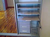 Шкафы-купе с прозрачными ящиками из акрила, фото 1