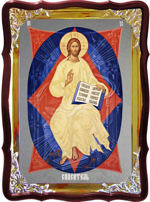 Иконы с Иисусом в церковном магазине -  Спас в силах