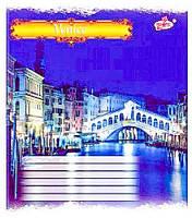 Тетрадь ученическая 18 листов, клетка, офсетная бумага, ТВ-108 №2429 Венеция BRISK (4061.3)