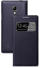 Чехол для Samsung Galaxy S4 mini i9190 S-View серый
