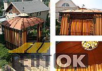 Тенты на кованные конструкции (беседки, качели, козырьки)