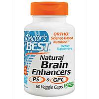 БАД Витамины для мозга с GPC и PS, Brain Enhancers, Doctor\'s Best, 60 кап.