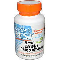 БАД Витамины для мозга, Brain Magnesium, Doctor\'s Best, 60 капсул