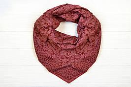 Платок Лина бордовый