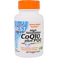 БАД Коэнзим CoQ10 плюс PQQ, (CoQ10 Plus PQQ), Doctor\'s Best, 60 капсул